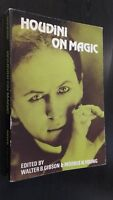 Houdini Se Magic Edited By W. B. Gibson&morris N. Young 1953 Demuestra Tbe