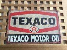 VINTAGE RETRO STYLE METAL TIN SIGN POSTER TEXACO MOTO OIL GARAGE CAVE WALL HOME