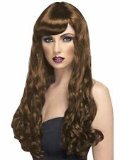 Long Brown Wavy Wig, Desire Wig, Brown, Long, Curly with Fringe #AU