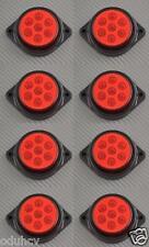 8x 7 LED 12V LATO post. INDICATORE ROSSO LUCI AUTO SUV Camper 4X4 PICK-UP