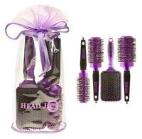 Hair Tools Head Jog Purple Ceramic Ionic Brushes Set Of 4 (SAMEDAY DISPATCH)
