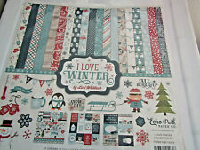 Echo Park I Love Winter 12x12 Collection Kit Papers and Element Stickers