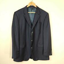 Banana Republic Modern Blazer 42 L Navy Brown Pinstripe Wool Back Vent 42 Long