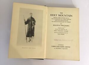 1934 The Holy Mountain Bagwhan Shri Hamsa Intro By W B Yeats HB 1st Rare Tibet