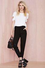Glamorous By Nasty Gal Long Run Trouser - Black Size XS