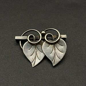 Vintage Georg Jensen USA Hand Wrought Sterling Silver Pin Brooch