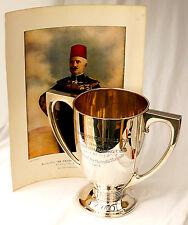 865gm argento Sterling cavallo da corsa Trofeo. Governatore Generale'S CUP KHARTOUM 1914.