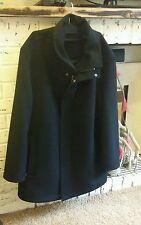 Men's Overcoat winter Coat by Douglas Business Cashmere & Wool jacket  black 40R