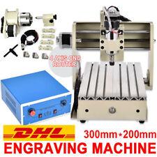 CNC Router 3020T 4 Achse Graviermaschine Fräsmaschine Spindle Graviergerät 300W