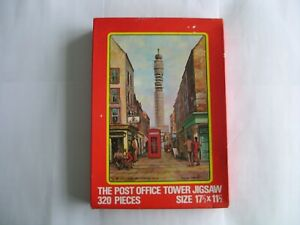 Jigsaw Puzzle - Post Office Tower from Charlotte Place. 1970s vintage