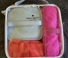 Kate spade 4 Piece Travel Cosmetic Nylon Pouch Set With Clear Zip Case Nwt