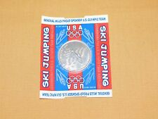 VINTAGE 1998 GENERAL MILLS NAGANO USA SKI JUMPING OLYMPIC TEAM MEDALLION COIN