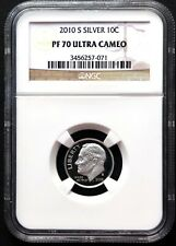 2010 S Silver Roosevelt Dime, NGC PF70 UCAM