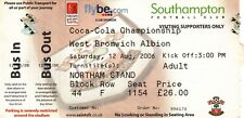 Ticket - Southampton v West Bromwich Albion 12.08.2006