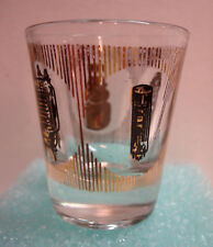 Electronics Components - Fuse Lamp Tube - 1.5oz MCM Black Gold Shot Glass - Rare