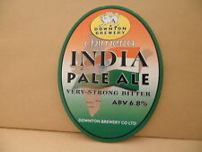 Downton brewery India Pale Ale Beer Pump Clip face Pub Bar Collectible 11