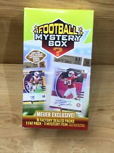 2020 Football Box Mystery Meijer Exclusive - 9 Factory Sealed Packs  1 Fat Pack