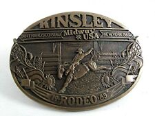 1985 Kinsley Kansas Rodeo Belt Buckle ADM, AWARD DESIGN MEDALS 9617