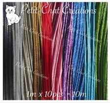 Lot Mix de 10m de fil en coton ciré de 1mm pour colliers sautoirs bracelets *CU2