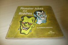 Monster Jokes and Riddles by Norman Bridwell - ©1973- 4TH  Printing