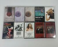 Lot of 10 80s/90s Rock Heavy Metal Cassette Tapes Whitesnake, Nugent, Hagar ...