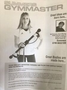 Summers Gym Master Body Exerciser Home Fitness Toning 4 x DVDs Full Instructions