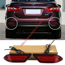 Red LED Rear Bumper Tail Light For Nissan Sentra 2016 2017 Driving Brake Lamp