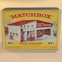 Matchbox Lesney  / Accessory MF-1 Fire Station Red Roof empty box repro oct