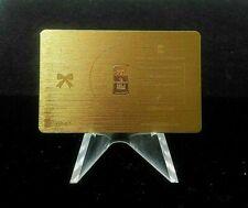 Karatbars Nadir 1gr .999 Fine Gold Bar Happy Birthday Metal Card Karat Bars k10