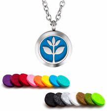 Aromatherapy Essential Oil Diffuser Necklace Pendant Stainless Steel Plant Guru