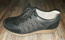 Dansko Gabi black leather lace up tennis shoes size EU 38 US 7.5 8