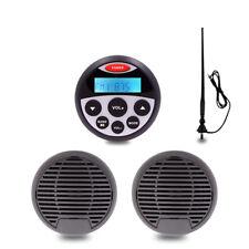 DC12V Marine Radio FM/AM Boat Bluetooth stereo+3inch Boat speakers+fm/am antenna
