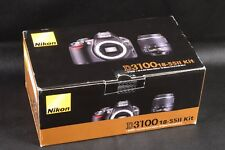 BOX ONLY FOR NIKON D3100 CAMERA & LENS 18-55MM AF-S DX F/3.5-5.6G ED II  KIT