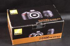 Scatola Solo Per Nikon D3100 fotocamera e obiettivo 18-55 mm AF-S DX F/3.5-5.6G ed II KIT