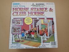 Rare Blue Box carry along stable and club house parts still sealed