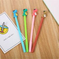 8pcs Cute Kawaii Dinosaur Black Gel Ink Roller Ball Point Pen School Kids Pens