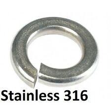 Qty 20 Spring Washer M8 (8mm) Metric Marine Stainless Single Coil SS 316 A4