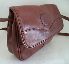 BROWN LEATHER SATCHEL SHOULDER BAG HANDBAG CROSS BODY