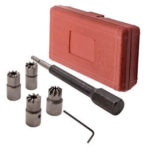 5PCS Escariador Asiento de Inyectores herramienta de Limpiar de Inyector Diesel