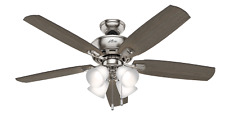 Hunter 53216 Indoor Amberlin Ceiling Fan with LED Light, Brushed, Nickel/Chrome