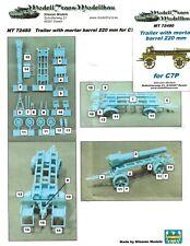 1/72 Modelltrans Trailer with Mortar barrel 220mm for C7P