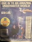 2 X Sealife Tickets, Booking Form + All 10 Tokens. 10 Locations To Choose From