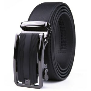 Mens Belts Leather Dress Belts Ratchet Belt Automatic Buckle Size Customized