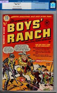 BOYS RANCH #2-CGC 6.5-FINE+-1950 SIMON & KIRBY ART-HARVEY