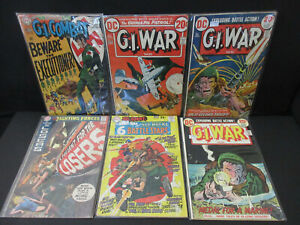 G.I. WAR, FIGHTING FORCES, SGT ROCK  (MIXED LOT OF 6) FR/FN