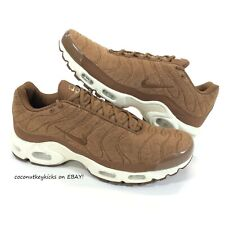 NEW Nike Air Max Plus Running Shoes Brown Ale Quilted 806262-200 Mens Size 11