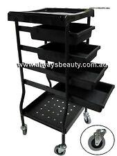 6 Tier Black Trolley Hairdressing Hair Beauty Salon Furniture Aussie Sale