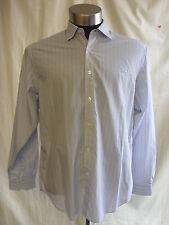 Mens Shirt - Austin Reed , size L, slim fit, blue/brown/white stripe, smart 7589