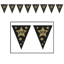 HOLLYWOOD PARTY THEME AWARDS NIGHT VIP FLAG BUNTING BANNER CELEBRITY DECORATION