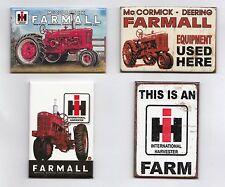IHC Traktor Farmall Händler USA Kühlschrank Magnete Schilder 4 Stück Set